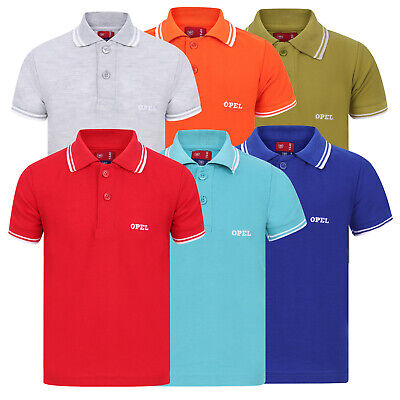 Boys & Girls Children Polo T Shirts Size Age 6 to 16 Leisure Sports Golf