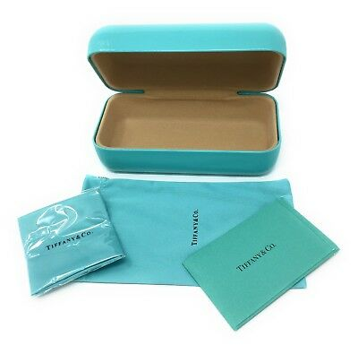 New Authentic TIFFANY & CO Blue Eyeglasses Medium Sun ClamShell Storage Case