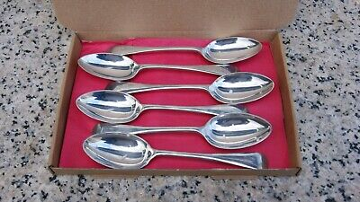 Vintage Set Of 6 Walker & Hall Set Of 6 Silver Plated Ep A1 Oval Soup Spoons