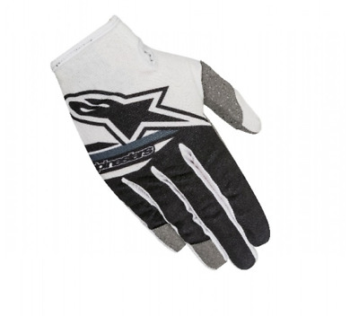 Alpinestars Radar Flight Motocross Gloves White Black Youth Medium YMed