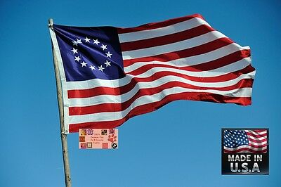 BETSY ROSS 13 Stars US American 3x5 Super-Poly FLAG BANNER*USA MADE