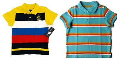 NEW LOT of 2 Toddler Boys Short Sleeve Polo shirts tops 3T