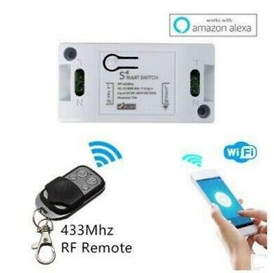 SMART SWITCH RF 433MHz Senza Fili INTERRUTTORE  HOME Alexa PRESA