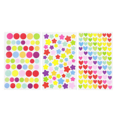 3 Packs Girl DIY Self-adhesive Stickers Star Shaped Sticker for Diary Scrapbook