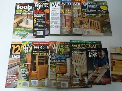 Wood working Lot of 12 magazines 2011 -2012