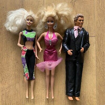 1990's Bundle of Barbie Dolls & Ken Doll Mattel