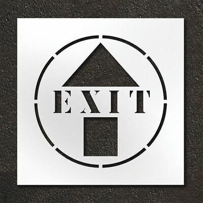 RAE STL-108-12405 Pavement Stencil,Exit With Arrow