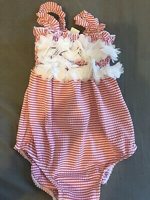 Girls Monsoon Striped Costume (Pink/White/Frilly) Soze 6-12 Months