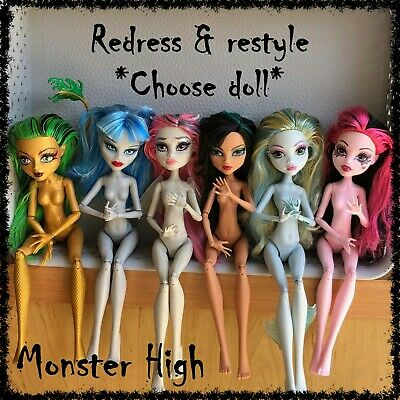 MONSTER HIGH Nude Doll, Redress / Restyle, OOAK ~SELECT DOLL~ 1 incl. (lot 16)