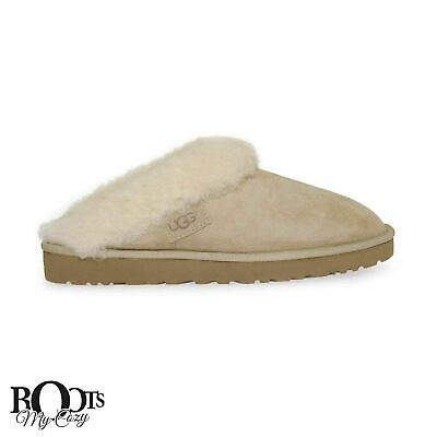 faa0f47a1f6d9 Ugg Cluggette Sand Women's Sheepskin Suede Slippers Size Us 6/Uk 4.5/Eu 37