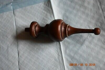 Sligh Grandfather Clock top wood finial set of 1 for project
