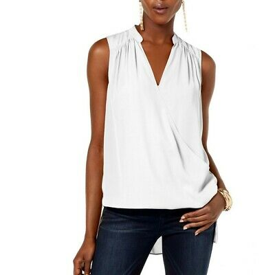 INC NEW Women's Sleeveless High-low Surplice-neck Blouse Shirt Top TEDO