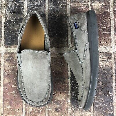 1b11e623 Patagonia Men Boulder Maui Gray Taupe Smooth Casual Slip On Shoes Loafers  Sz 8.5
