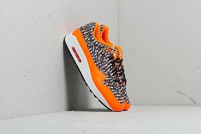 NIKE AIR MAX 1 Premium UK 9 BlackBlack Total Orange