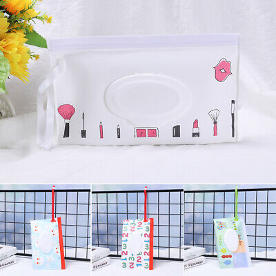 Portable Wet Wipes Bag Cosmetic Pouch Tissue Box Stroller Accessories