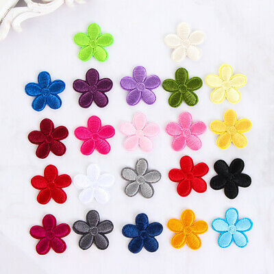 Small DIY Clothes Dress Floral Badge Embroidery Applique Iron On Flower Patches