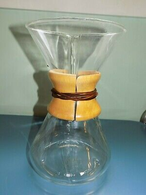 """Vintage Pyrex Chemex #2411340 Green Stamp Made In Usa Coffee Maker/Carafe 9.5"""""""