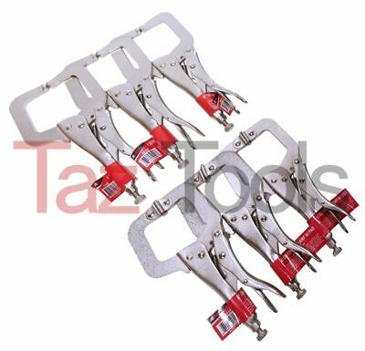 """6 Pack  6"""" Locking C Clamp Pliers Set 3 With Swivel Pads and 3 with regular tip"""
