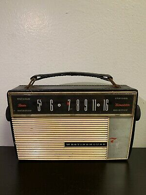 Vintage Westinghouse Radio Transistor SEVEN (7), USA, Working Condition