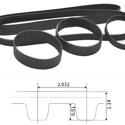 MXL Timing Belt Tooth Pitch 2.032mm Pulley Belt for 10mm Width 3D Printer CNCm