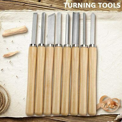8pc Wood Lathe Chisel Set Turning Tools Gouge Skew Parting Spear For Woodworking