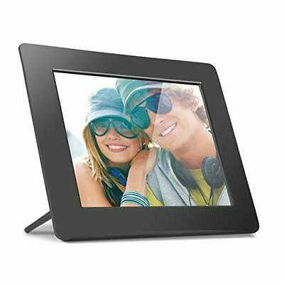 Aluratek 8 Inch LCD Digital Photo Frame USB SD/SDHC with Built-in Clock and Cal