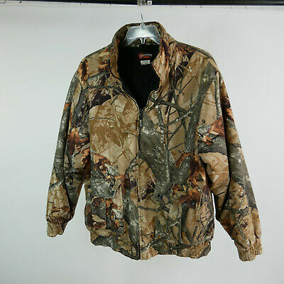 64ab89d5cf74f Outfitters Ridge Mens L Coat Fusion 3-D Camouflage Hunting Jacket Quilted  Liner