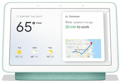 "*New Sealed* Google Home Nest Hub 7"" Touch screen with Google Assistant Aqua"