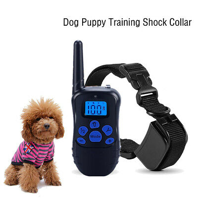 2in1 Smart Waterproof Rechargeable Dog Puppy Training Fence Shock Collar OK