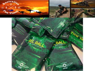 GLOW Gel Balls 7-8mm WARINTEREST Hardened 3000 pcs Pack AU STOCK For Toy Gel Gun