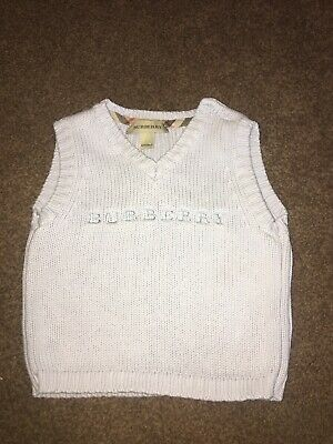 Baby boy Burberry tank top baby blue fantastic condition age 6 Months