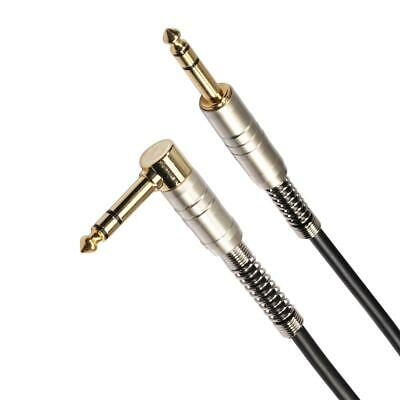 Gold-Plated 6.35mm 90 Degree Stereo Male to Male Audio Cable for Amplifier K1B