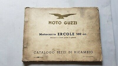 Moto Guzzi ERCOLE 500 1956 catalogo ricambi ORIGINALE spare parts catalogue