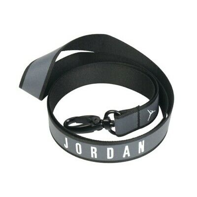 Nike Official Jordan Black Anthracite Reflective Lanyard With Quick Release ID