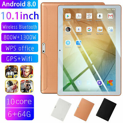 "10.1"" HD Tablet PC 8.1 Android 64GB Google 10Core GPS Wifi Phablet Dual Camera"