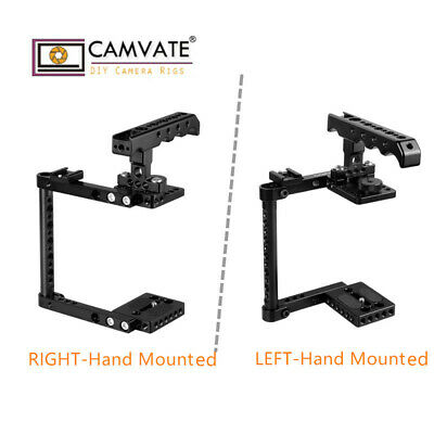 CAMVATE Camera Cage Kit W/ Top Handle & Shoe Left/Right Mounted for Canon Nikon
