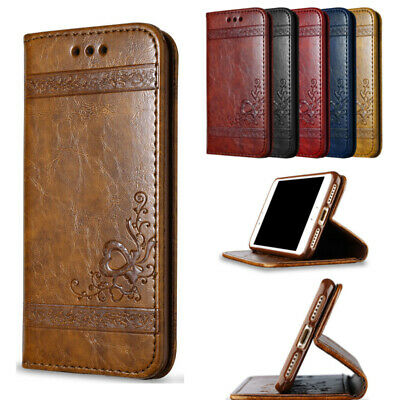 Luxury Wallet Magnetic Flip Leather Stand Case Cover for iPhone Samsung S7 Plus