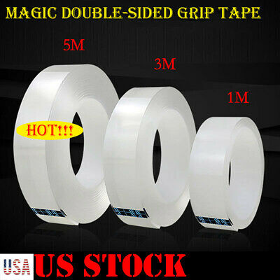 Magic Double-sided Grip Tape Traceless Washable Adhesive Tape Nano Invisible Gel