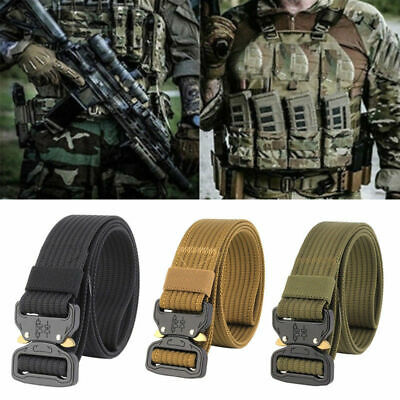 Mens Tactical Rigger's Belt Military Training Heavy Duty Nylon Quick Release US
