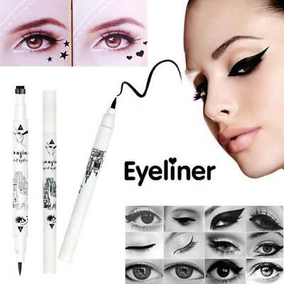 Waterproof Liquid Eyeliner Star Heart Tattoo Stamp Long-lasting Eye Liner