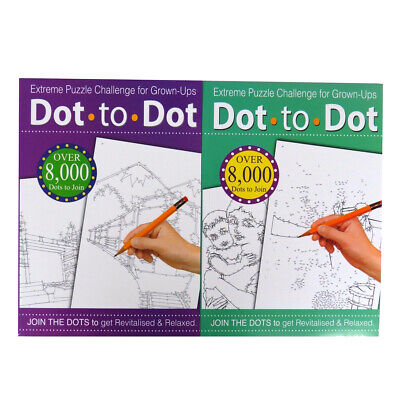 Extreme A4 Dot to Dot - Books 1 and 2, Each 32 Pages, Individual Designs