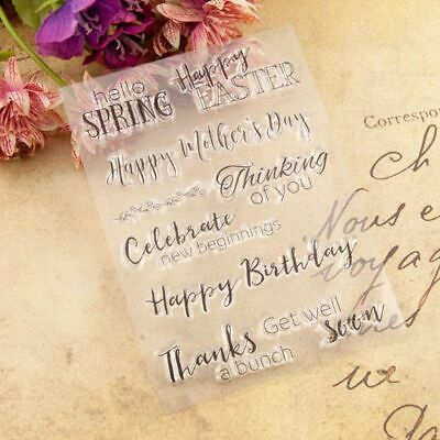 Happy Birthday Easter Clear Silicone Stamp DIY Scrapbooking Album Paper Card