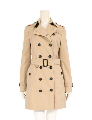 5f6177e51c01aa NWT BURBERRY WOMENS Sandringham Cashmere Check Trench Jacket Coat Us ...