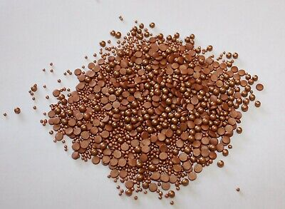 ROSE GOLD/BRONZE Glimmer SPRINKLE MIX 500g Edible Confetti Pearls Strand Mix S3