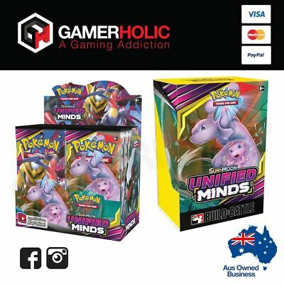 Pokemon TCG Unified Minds Booster Box + Build & Battle Box Brand New PREORDER