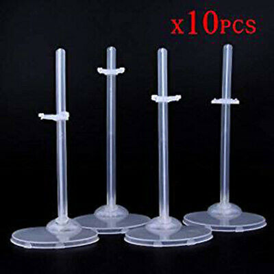 10 Pcs Doll Stand Display Holder for 11.5'' Dolls Transparent Model Support Tool