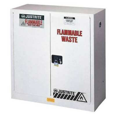 JUSTRITE 8945053 Flammable Cabinet, 45 gal., White