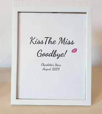 Personalised Kiss The Miss Goodbye, Hen Party Accessories Bride To Be Gifts, Hen