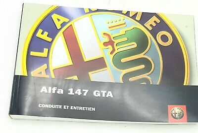 Brand New Genuine Alfa Romeo 147 GTA Owners Manual In French 60431319