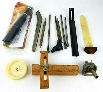 Crafttool and others Lot of 13 Leather Working Tools Vintage